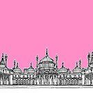 Brighton Royal Pavilion Facade ( pink version ) by Adam Regester