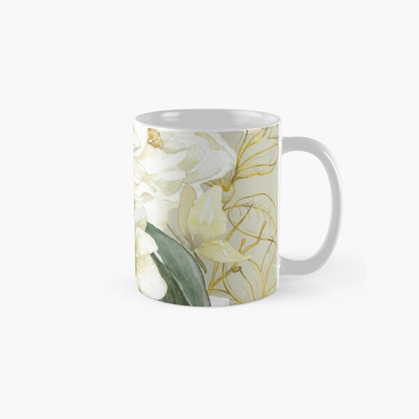 Elegant Magnolias – with a Touch of Gold Classic Mug