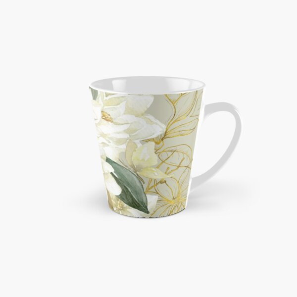 Elegant Magnolias – with a Touch of Gold Tall Mug