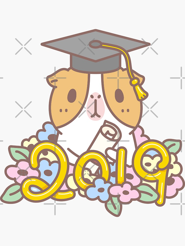 Bubu the Guinea pig, Congratulataions Class of 2019!  by Miri-Noristudio