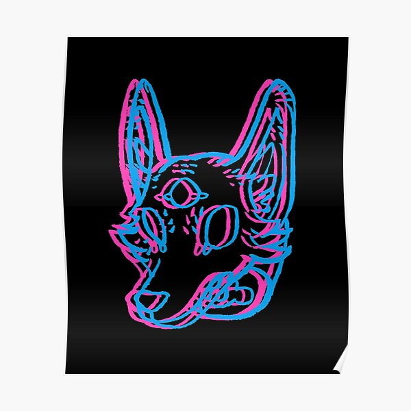 3D Space Coyote Poster