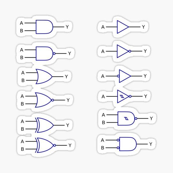 LOGIC GATE SYMBOLS #LOGIC #GATE #SYMBOLS #LOGICGATE Sticker