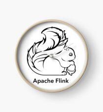 Apache Flink B&W Clock