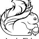 Apache Flink B&W by Apache Community Development