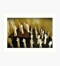 Hands Of Death! Art Print