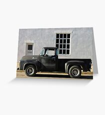 Red Lodge Chevy Pick Up Greeting Card
