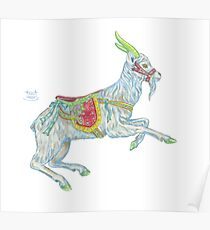 Carousel Goat Poster