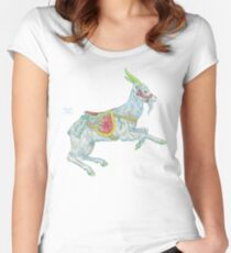 Carousel Goat Fitted Scoop T-Shirt
