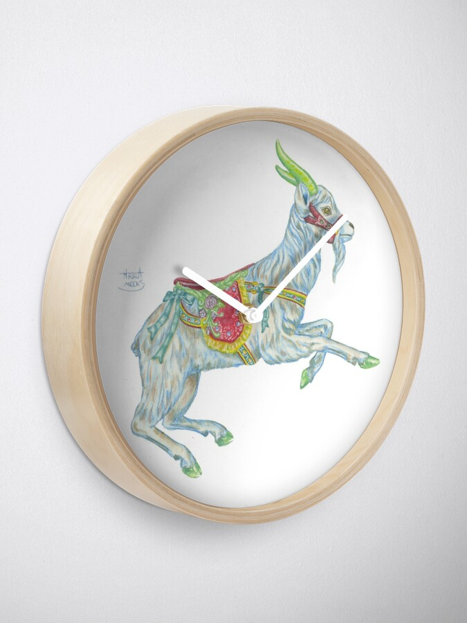 Alternate view of Carousel Goat Clock