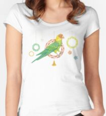 Candy Carolina Parakeet Fitted Scoop T-Shirt