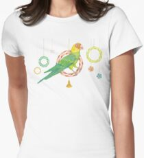 Candy Carolina Parakeet Fitted T-Shirt