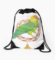 Candy Carolina Parakeet Drawstring Bag