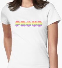Proud - LGBT+  Fitted T-Shirt
