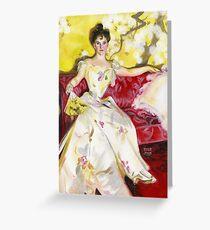 Zorn Lady Portrait Study Greeting Card