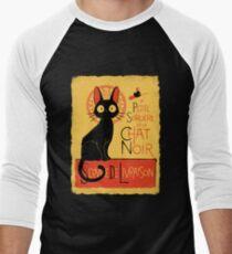 La Petite Sociere et le Chat Noir - Service de Livraison Men's Baseball ¾ T-Shirt