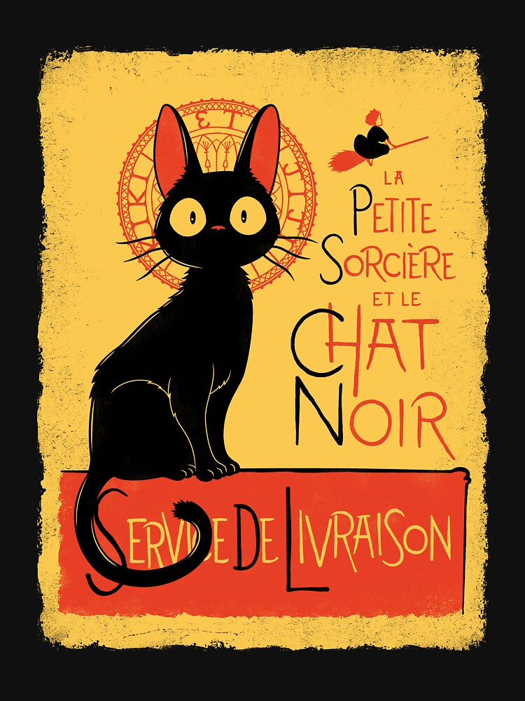 La Petite Sociere et le Chat Noir - Service de Livraison | Unisex T-Shirt