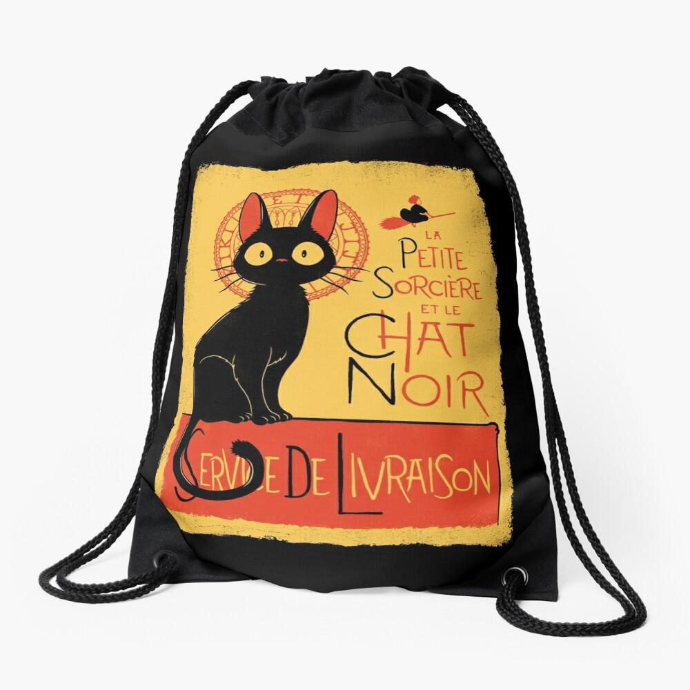 La Petite Sociere et le Chat Noir - Service de Livraison Drawstring Bag