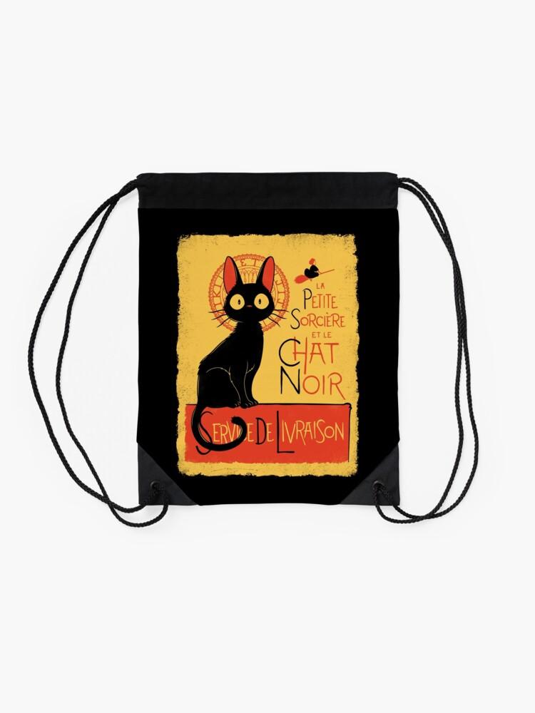 Alternate view of La Petite Sociere et le Chat Noir - Service de Livraison Drawstring Bag