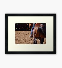 Simplistic stockwork Framed Print