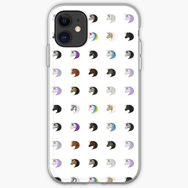 Unicorn Emotes iPhone Soft Case
