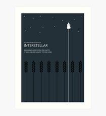 Interstellar Tribute - Minimalist Space Design Art Print