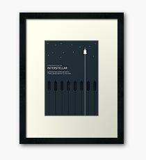 Interstellar Tribute - Minimalist Space Design Framed Print