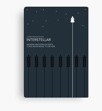 Interstellar Tribute - Minimalist Space Design Canvas Print
