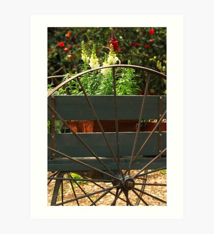 Flowers In The Cart Art Print