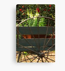 Flowers In The Cart Canvas Print