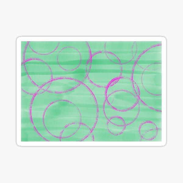 Pink cogs in the green machine Sticker