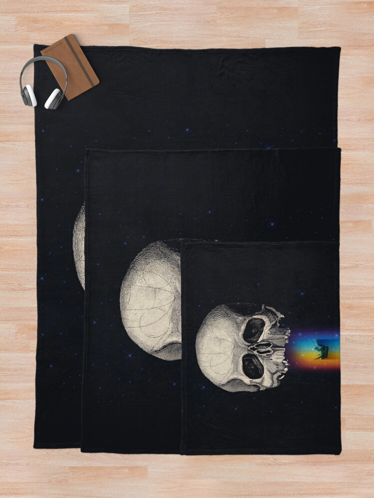Alternate view of Iridescent Oblivion Throw Blanket