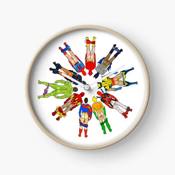 Superhero Butts Clock