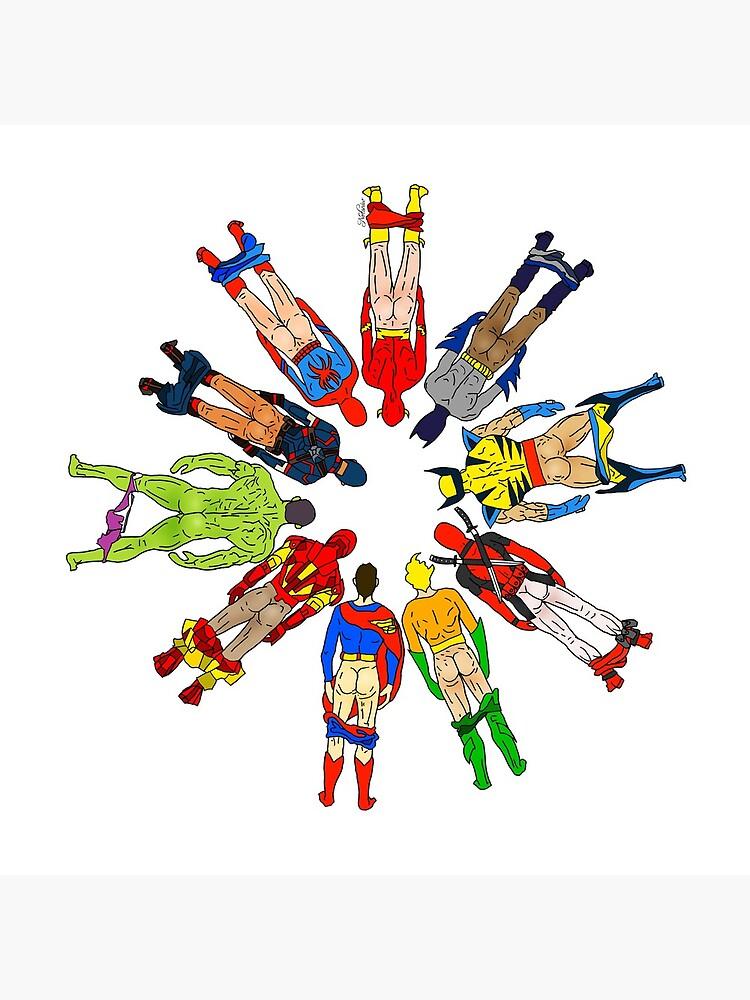 Superhero Butts by notsniwart