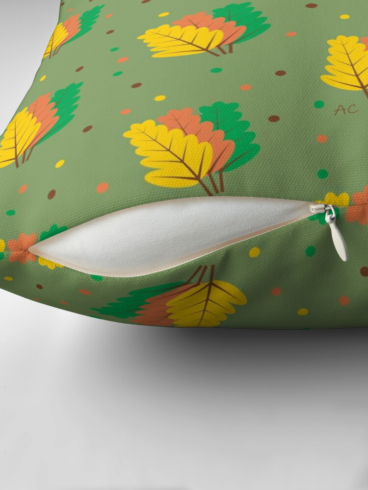 Alternate view of Autumn : Three Fallen Leaves Floor Pillow