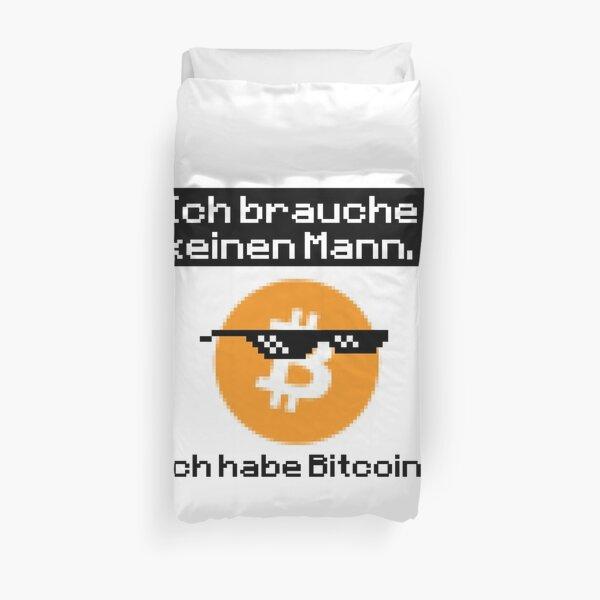 Bitcoin T-Shirt, Sie brauchen keinen Mann Bettbezug