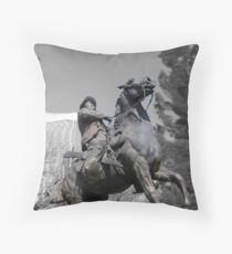 Pancho Villa rides through Tucson Throw Pillow
