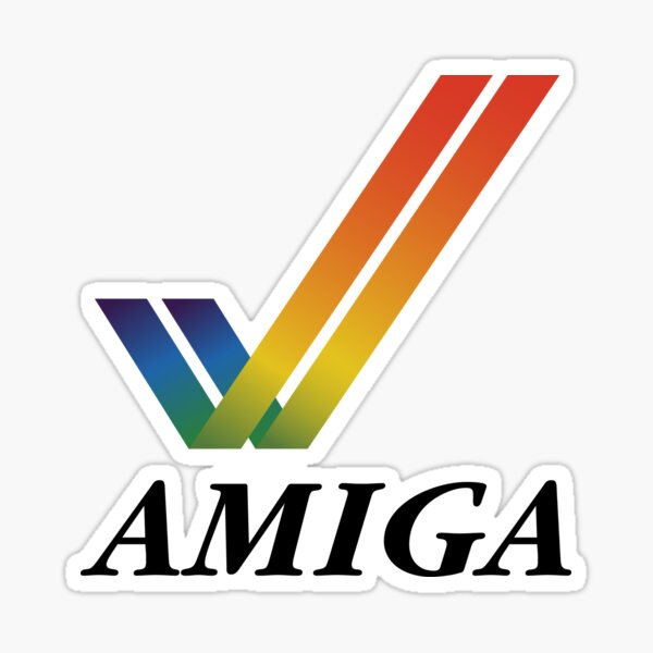 Amiga Tick Word Sticker