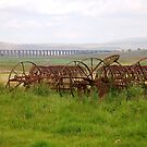 Farm Machinery at Ribble Viaduct by Annette Brown