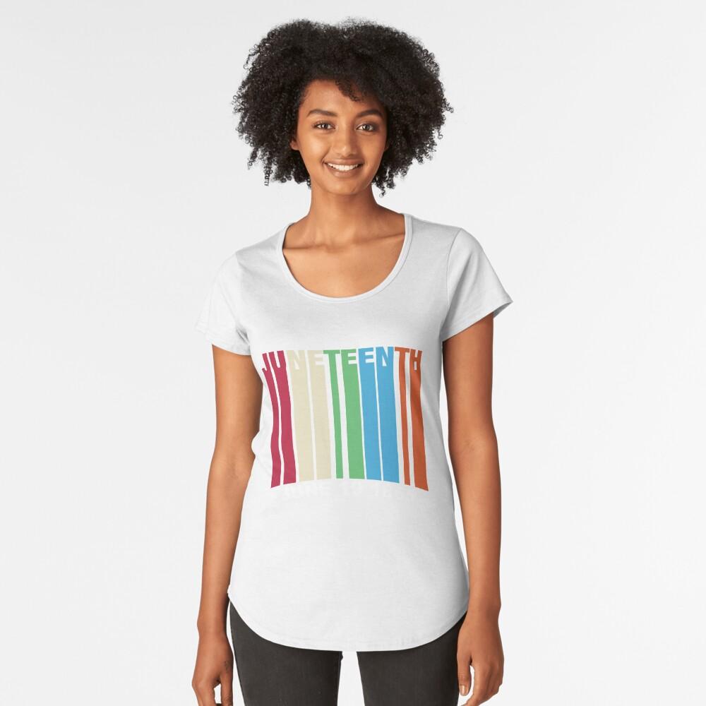 Juneteenth Retro Style Premium Scoop T-Shirt