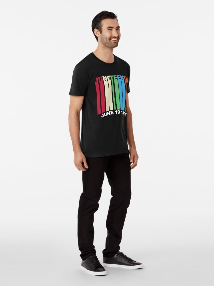 Alternate view of Juneteenth Retro Style Premium T-Shirt