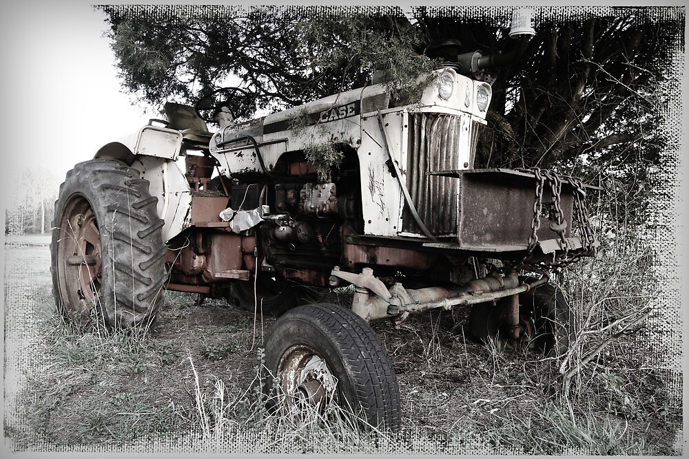 Old Case Tractor by Patricia Montgomery