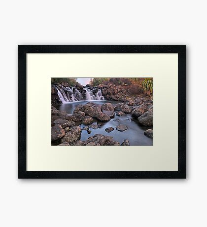 Waterfall Sunset Framed Print