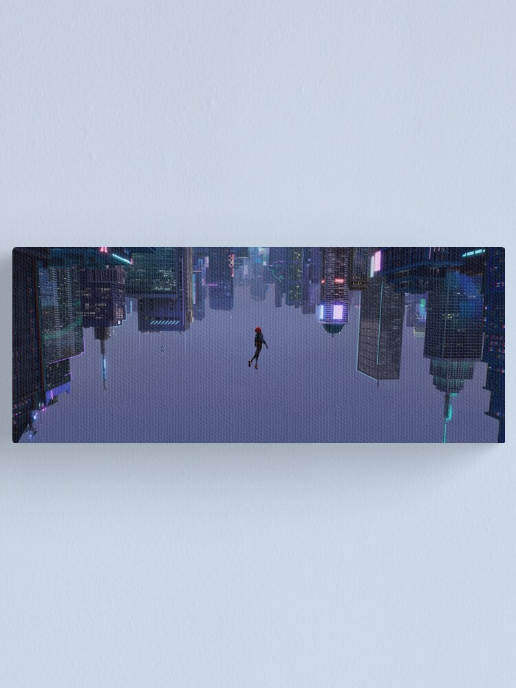 Alternate view of Miles Morales Falling Wide Canvas Print