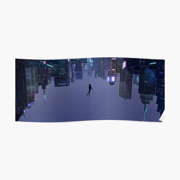 Miles Morales Falling Wide Poster