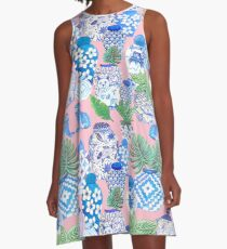 chinese ginger jars A-Line Dress
