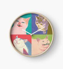 Four Meme Cats of the Apocalypse Clock