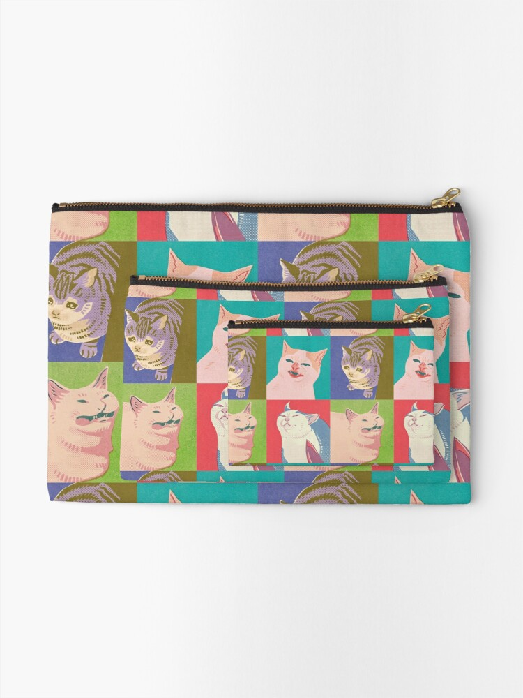 Alternate view of Four Meme Cats of the Apocalypse Zipper Pouch