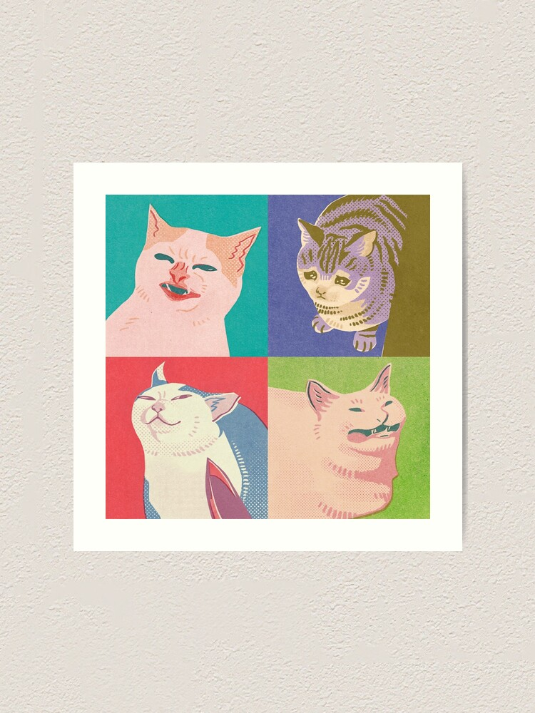 Alternate view of Four Meme Cats of the Apocalypse Art Print