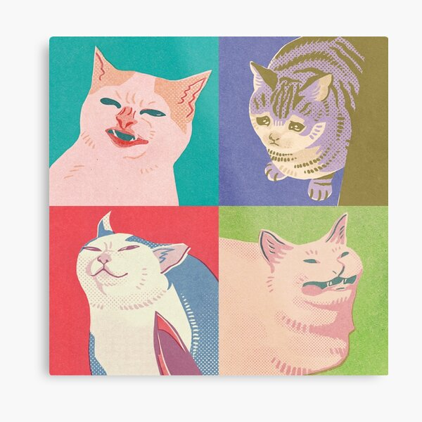 Four Meme Cats of the Apocalypse Metal Print