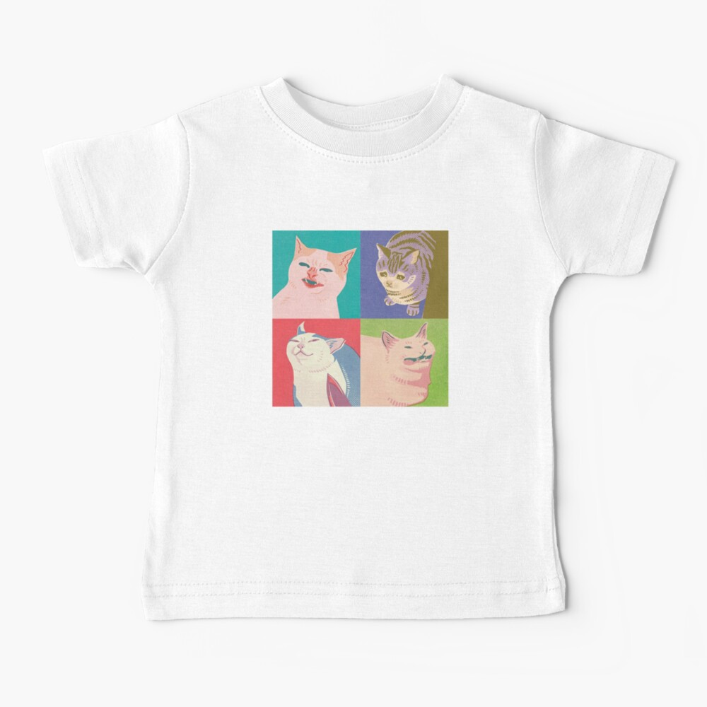 Four Meme Cats of the Apocalypse Baby T-Shirt